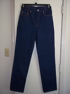 Vintage Levis 701xx Student 701-0115 Size 31x32 Made in USA Dark Blue Button Fly
