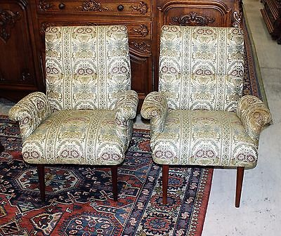 Beautiful Pair Of English Antique Mid Century Arm chairs.