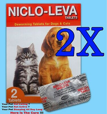 2pcs (4 Tablets) Animal Deworming Tablets for Dog - Cat -  Puppy Health