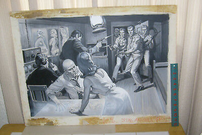 EARL NOREM PAINTING: mens magazine illustration: NAUGHTY SPIES!