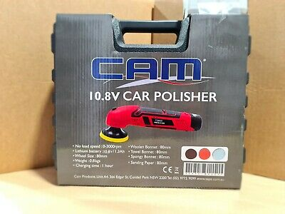 CAM 12V Lithuim Ion Cordless Car Mini Polisher Kit 80m with Extra Battery