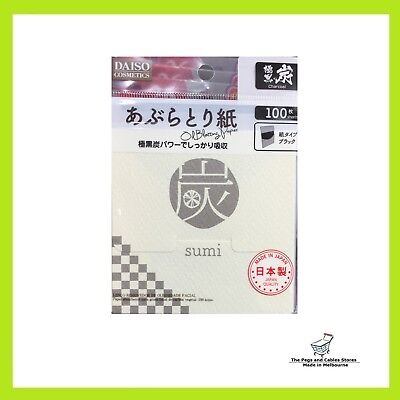 Daiso Sumi Charcoal Blotting Paper 100s (Made in Japan)