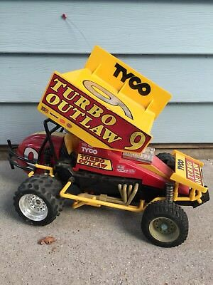 Vintage Tyco 9.6V Turbo Outlaw R/C Dirt Track Sprint Race Car