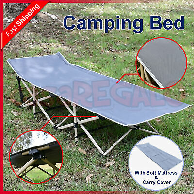 Foldable Camping Bed Stretcher Light Weight w/ Carry Bag Camp Portable