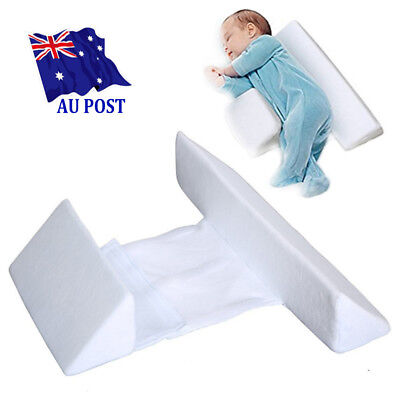 Memory Foam Baby Infant Sleep Pillow Support Wedge Adjustable White Cotton MNMN