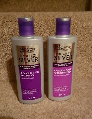 Touch Of Silver Color Care Shampoo & Conditioner For Blonde,Platinum, White Hair