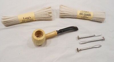 Missouri Meerschaum Pipe, With Pipe Packer, Pipe Cleaners