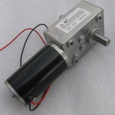 1x GW31ZY DC  12V/24V High Torque Worm Gear Reducer Motor Double-Shaft for Robot