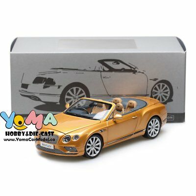 Paragon 1/18 2016 Bentley Continental GT Convertible RHD Gold PA-98232R