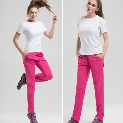 Outdoor Warm Trousers Solid Color Quick Drying Breathable Elastic Women Pants GT