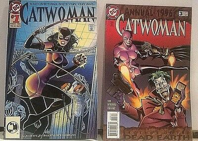 DC: CATWOMAN Vol.1, #1; 1993-Jim Balent DIE-CUT COVER; ANNUAL #3, 1996; VF+