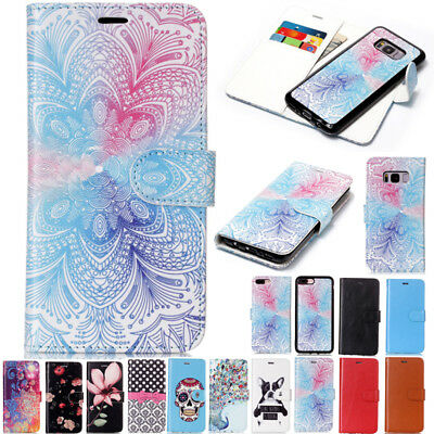 Detachable Magnetic Flip Wallet Case Cover For Samsung Galaxy S5 S7 S10+/Note 9