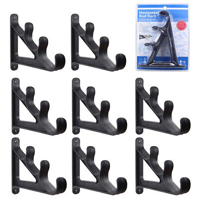 4Set Horizontal Wall Fishing Rod Rack for Fishing Rod Storage Holds up to 12Rods