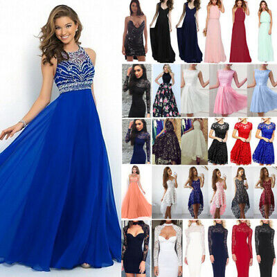 Women Lace Formal Dress Wedding Evening Ball Gown Party Cocktail Prom Bridesmaid