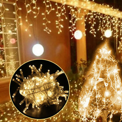 500LED 100M Warm Cool White Fairy Christmas String Strip Lights Party Outdoor CE