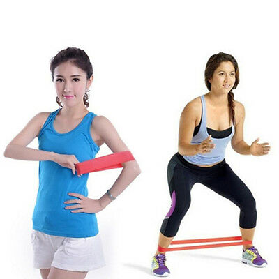 EG_ Strength Training Gym Exercise Fitness Cross Fit Latex Resistance Loop Band