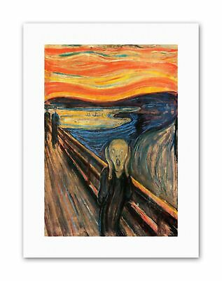 EDVARD MUNCH THE SCREAM Poster Painting Old Master Canvas art Prints