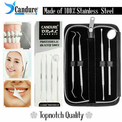 Dental Pick Floss Tartar Plaque Remover Tooth Scraper Mirror Scaler Kit
