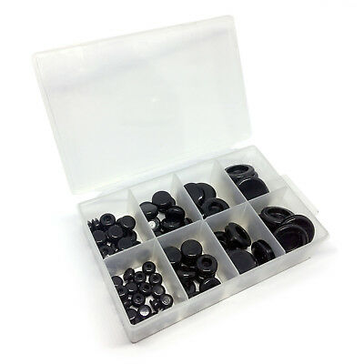 80 Piece Mixed PVC Blanking Closed Grommet Set with Case 6mm to 20mm