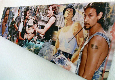 TRES CHICANOS I 120x30cm / 47.2x11.8inch I CANVAS I BLOOD IN BLOOD OUT *leinwand