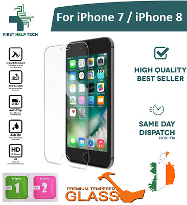 For iPhone 7 / iPhone 8 - Premium Tempered Glass Screen Cover Protector