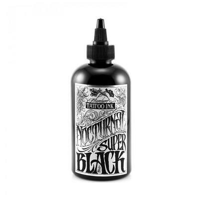 NOCTURNAL Tattoo Ink - SUPER BLACK - UK Supplier, Genuine Nocturnal Tattoo Ink