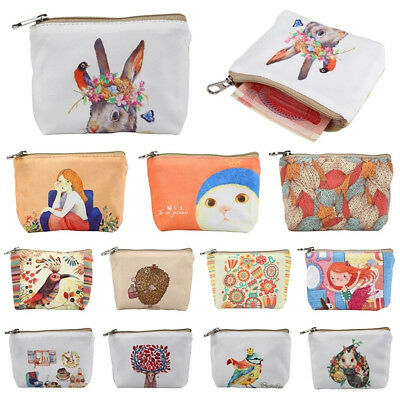 EG_ Cartoon Printting Canvas Clutch Change Coin Purse Wallet Pouch Bag Case Eyef