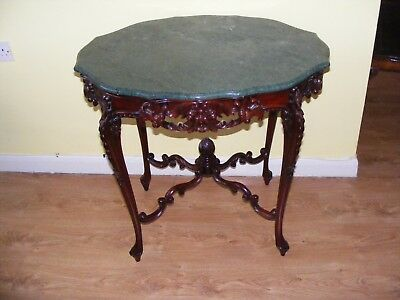 Very Rare Beautiful French Rococo Carved Marble Top Centre Table In V.g.c