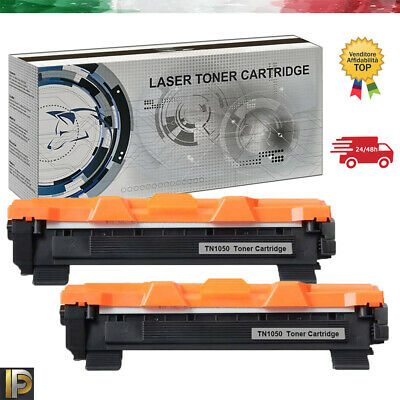 2 Toner per Brother TN-1050 DCP1510 DCP1512 DCP1512 DCP1601 DCP1610W DCP1612