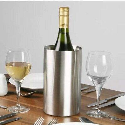 AP, Wine Bottle Cooler Stainless Steel Ice Bucket Double Wall Brushed Finish