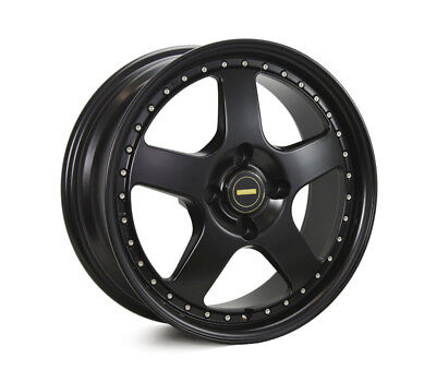 TOYOTA  CELICA RWD WHEELS PACKAGE: 17x7.0 17x8.5 Simmons FR-1 Satin Black and Ku