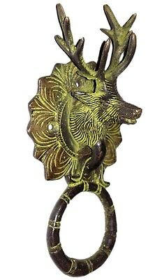 Antique finish Vintage style Brass made Reindeer designed DOOR KNOCKER India
