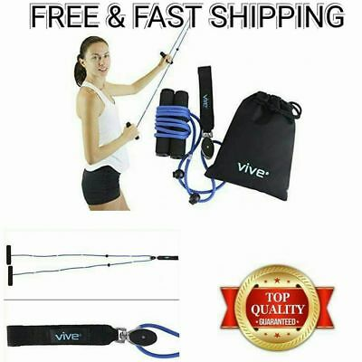 Shoulder Pulley Rope Over Door Handles Cable Arm System Sports Therapy  Exercise