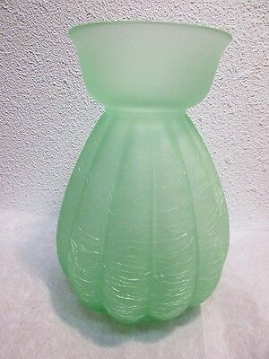 """Crackle Glass Vase Frosted Mint Green 6 ¼"""" H Gorgeous Designs China"""