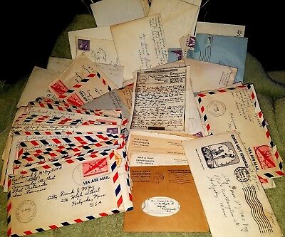 Lot of 86 vintage letters some with letterhead 1944