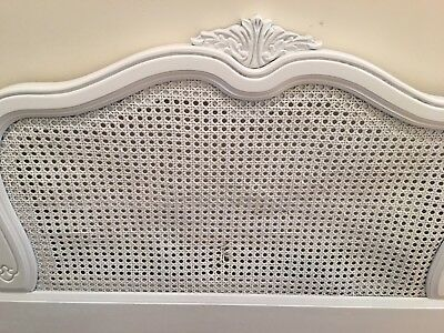 Drexel Heritage ? Country French Provincial Cane Queen Headboard