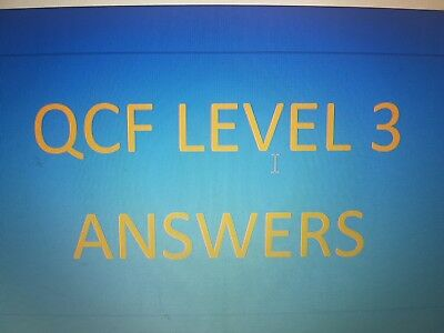 "Qcf Level 3 In Health & Social Care ""answers To All 9 Mandatory Units"""