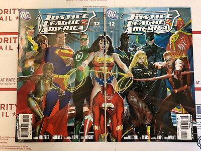 Justice League Of America #12 Alex Ross Connecting Covers VF/NM DC Comics