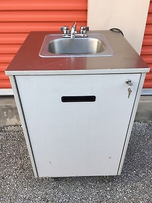 Portable Hot Water Hand Wash Sink Mobile Station   Commercial NSF Pump  Unit 5