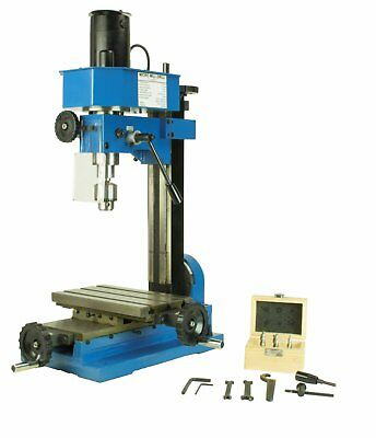 Erie Tools Mini Bench Top Mill & Drilling Machine Gear Driven, Adjustable Stop