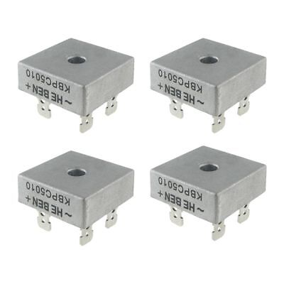 4X 50A 1000V Metal Case Single Phases Diode Bridge Rectifier KBPC5010 G8Q5