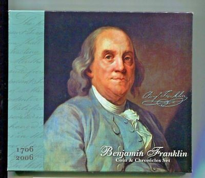 UNOPENED 2006 Ben Franklin Silver Coin and Chronicles Set