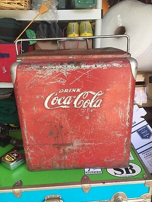 Antique/ Vintage Metal Coca Cola Cooler  Collectable Cool!