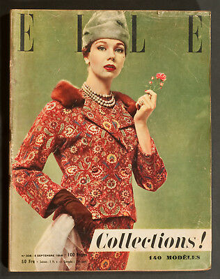 'elle' French Vintage Magazine Winter Collections Issue 5 September 1955