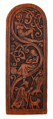Maid Mother Crone Wall Plaque - Wood Finish Dryad Design - Goddess Wicca Pagan