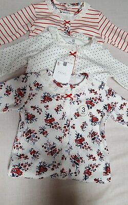 NEW⭐ BNWT NEXT Baby Girl Newborn 0-1 0-3-6-9 Cotton Floral  Sleepsuits/Babygrows