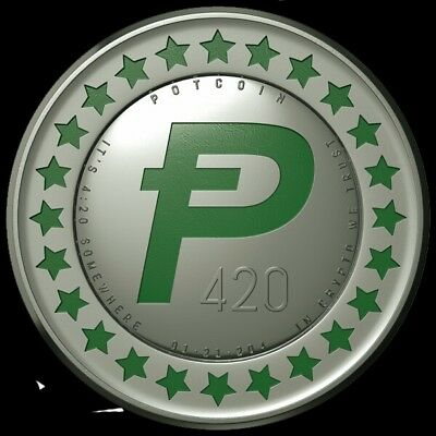 1 PotCoin digital currency sent directly to your wallet