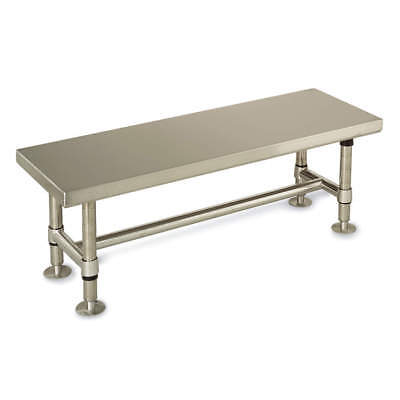 METRO Brushed Stainless Steel Cleanroom Gowning Bench, 60 In, GB1660S