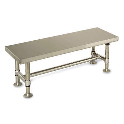 METRO Brushed Stainless Steel Cleanroom Gowning Bench, 72 In, GB1672S