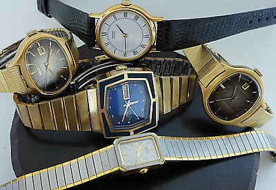 VINTAGE 5 LOT SEIKO HI BEAT WOMANS NEW OLD STOCK NOS WATCH RESELL COLLECTOR 70s